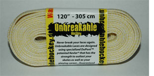 Unbreakable Kevlar and Nylon Waxed Hockey Skate Laces