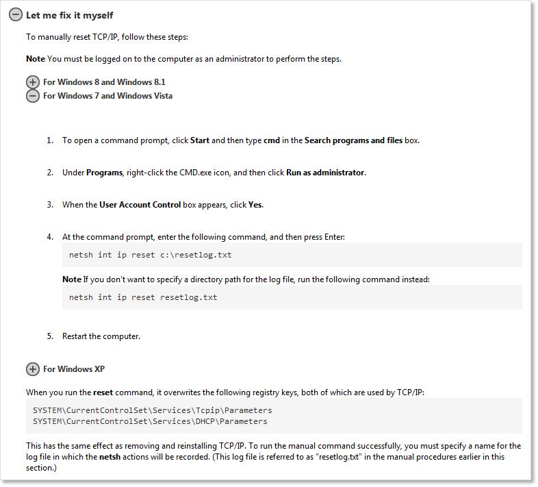 netsh int ip reset windows 10